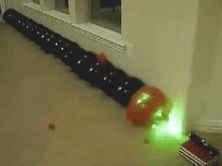 Popping Balloons With A Laser